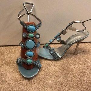 Beautiful Gianmarco Lorenzi aqua heels